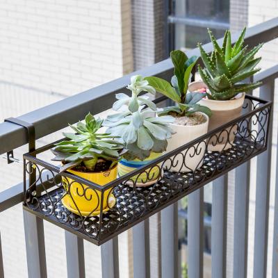 索爾諾歐式陽臺花架 鐵藝欄桿多層懸掛式花盆架壁掛綠蘿多肉花架