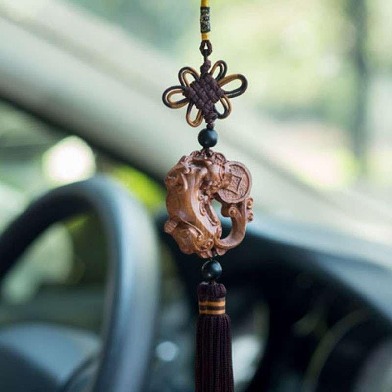 多吉米含钱貔貅佛珠汽车挂件车挂饰品挂饰车吊坠木雕车挂