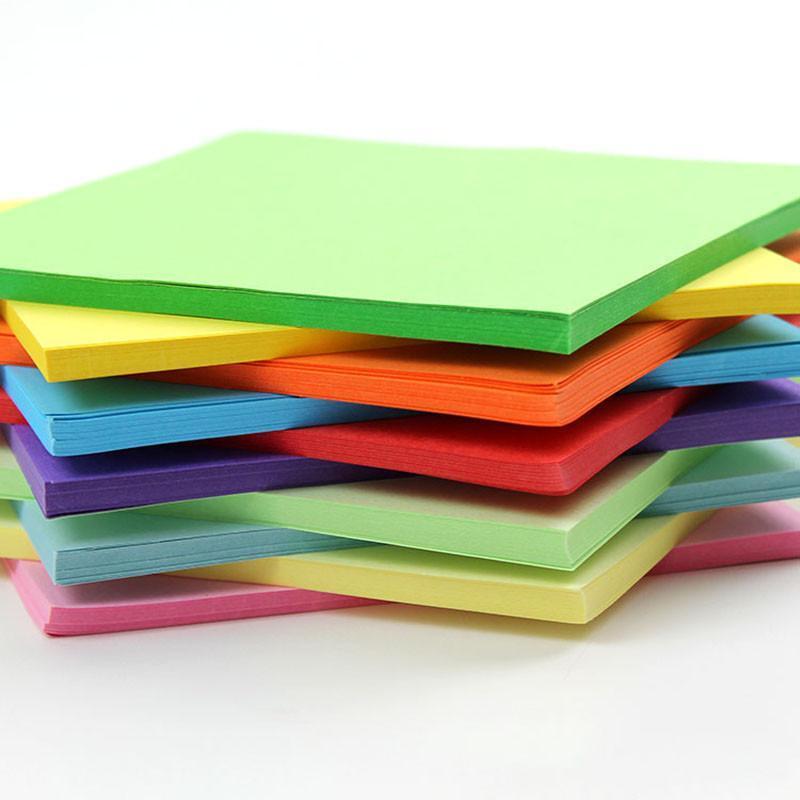 彩色手工纸 折纸 千纸鹤用纸 折纸材料 13x13cm 10色混装 500张