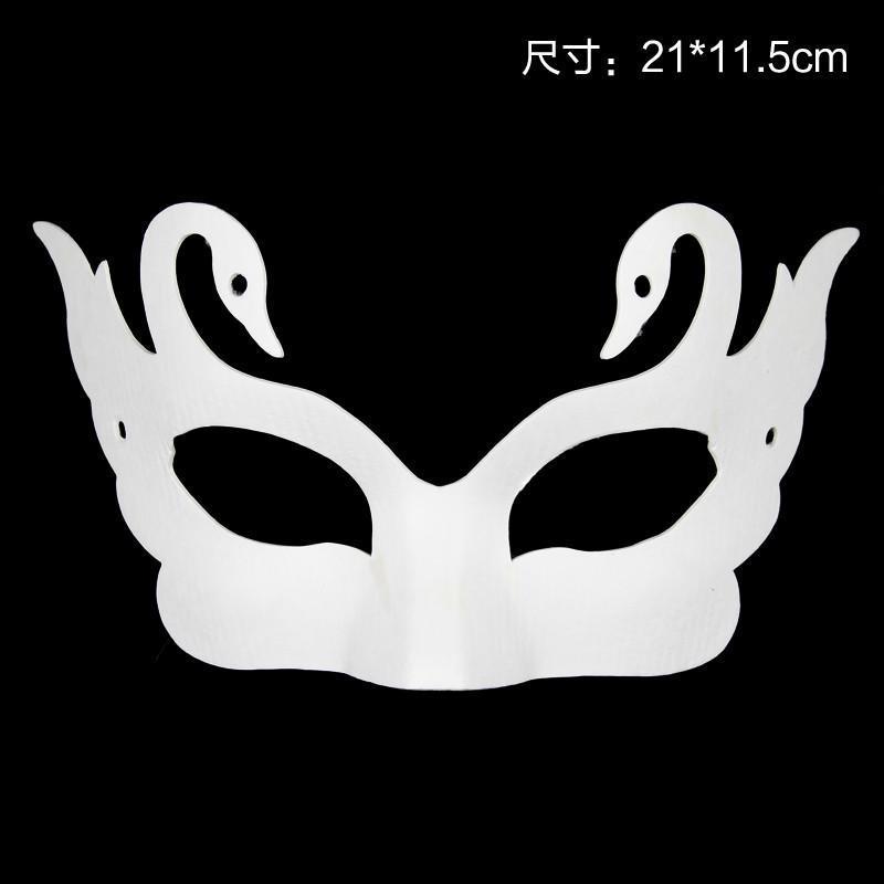 薄款纸浆白坯面具 蝴蝶