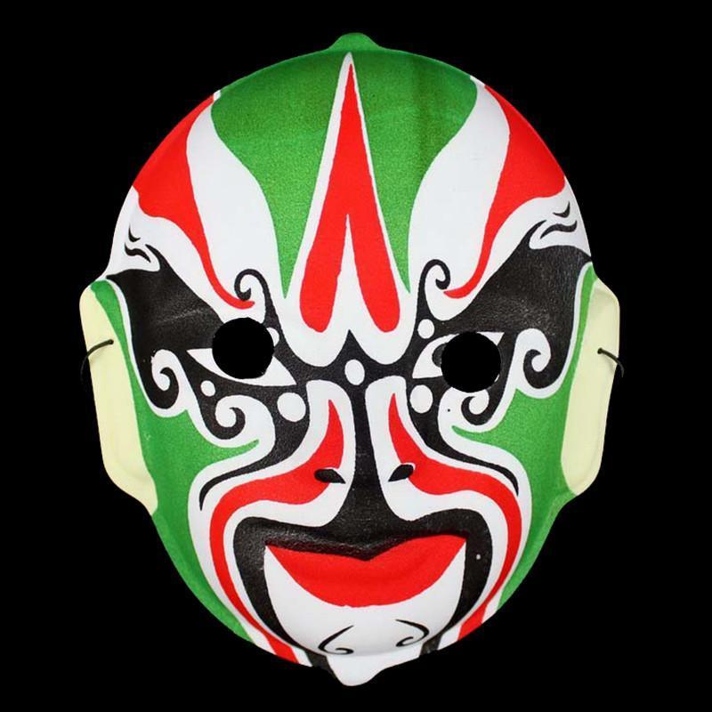 仕彩 创意玩具 传统京剧脸谱面具 魔术道具 植绒京剧脸谱面具 多款 植