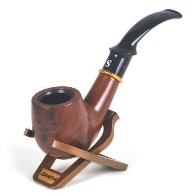 三达SANDA胶木弯式烟斗 循环清洗型烟具 礼盒装SD-110