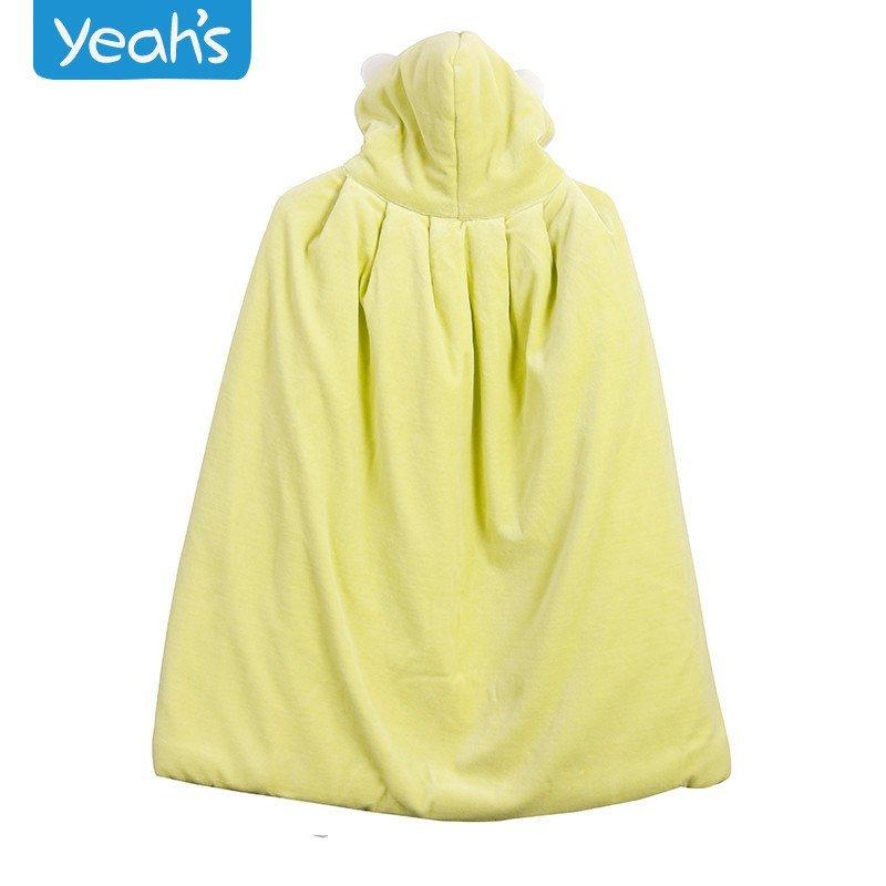 雅氏婴儿斗篷 秋冬加厚宝宝披肩 儿童天鹅绒披风 新生儿斗篷外套