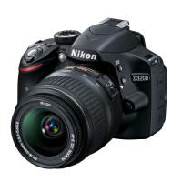 尼康 数码单反相机 D3200(AF-S DX 18-55mm f/3.5-5.6G ED II)黑