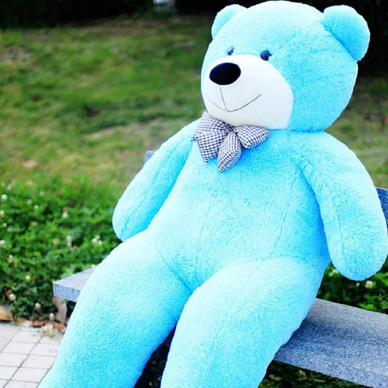 熙幼伊 毛绒玩具 公仔可爱蓝色泰迪熊 可爱布娃娃大熊