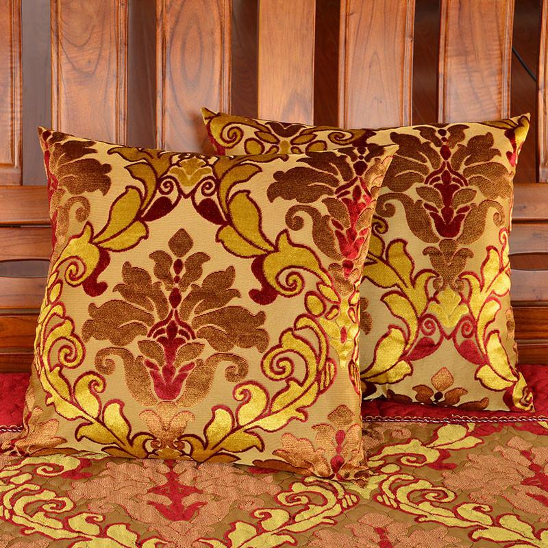 法莱绒实木红木沙发垫
