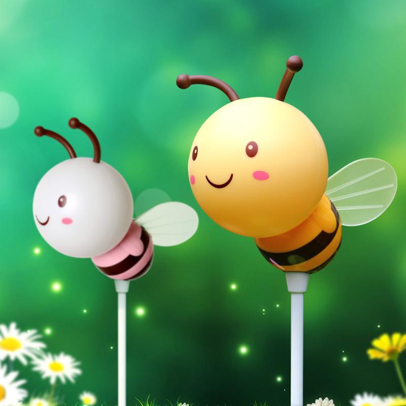 蜜蜂小夜灯卧室床头灯婴儿喂奶灯充电定时儿童可爱卡通温馨小台灯
