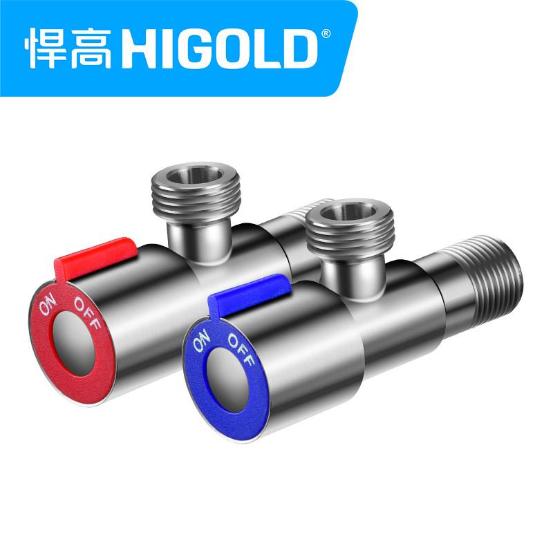 higold/悍高 全304不锈钢角阀 三角阀 三通八字阀全不锈钢冷热通用图片