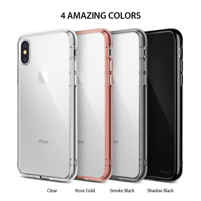 幻盾推荐 苹果x防摔抗震手机套iphonex透明双层边框透明pc硬壳x超薄后