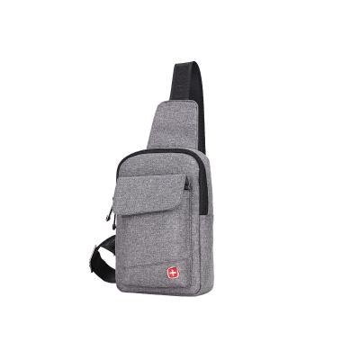 2019新SWISSGEAR7.9英寸胸包男女通用 单肩包瑞士军刀运动休闲包 竖款斜挎包防水尼龙