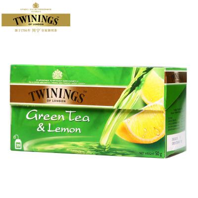 Twinings/川寧檸檬綠茶 (2g×25片)盒裝 休閑沖飲10782