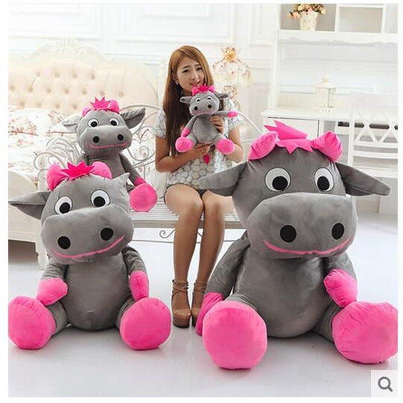 可爱大号奶牛公仔毛绒玩具大角牛布娃娃女生日礼物儿童布娃娃抱枕