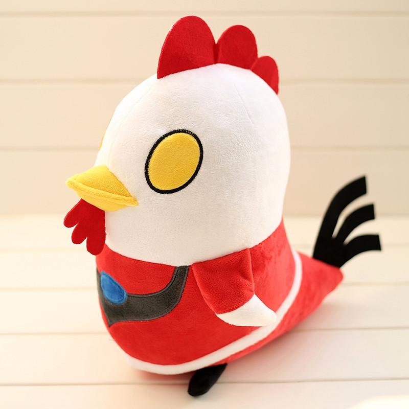 悦达 小公鸡公仔变身超人可爱创意奥特曼鸡毛绒玩具批发布娃娃生日