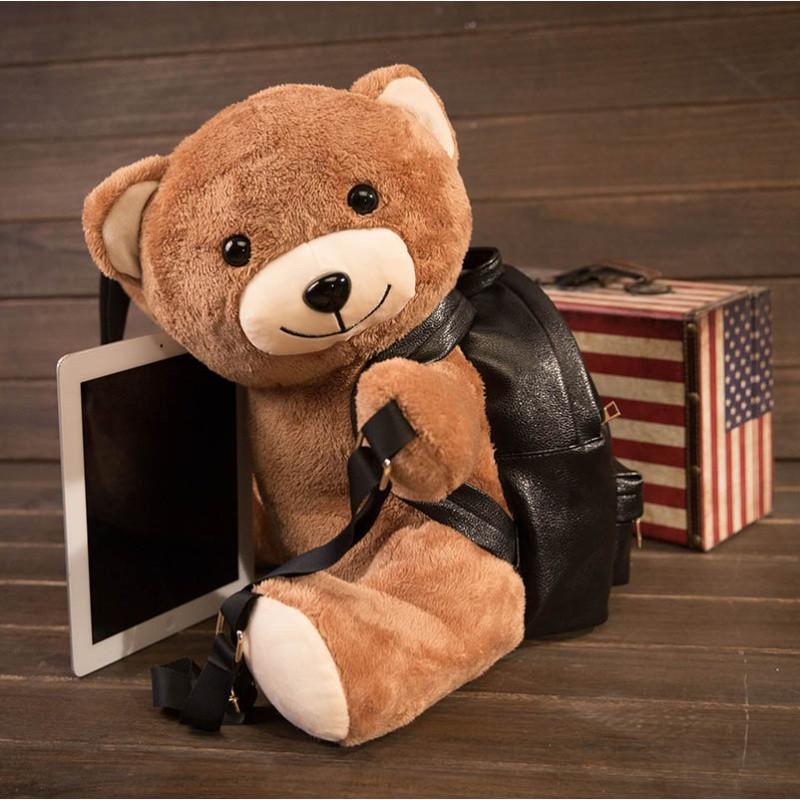 悦达 萌可爱小熊双肩包同款卡通背包女泰迪熊创意圣诞礼物趣味泰迪熊
