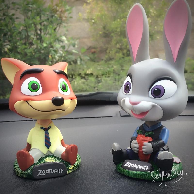悦达 疯狂动物城zootopia兔朱迪狐尼克摇头玩具 汽车车载摆件车内饰品