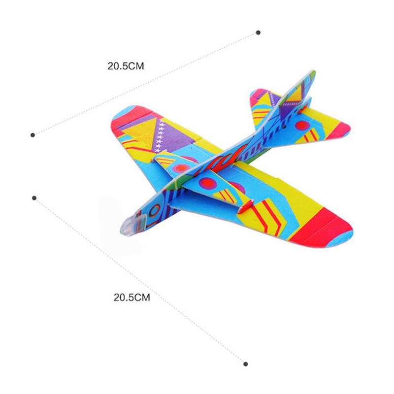 彼优比儿童玩具 360度魔术回旋飞机 泡沫纸飞机模型拼装创意儿童玩具