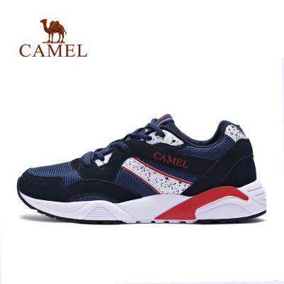 CAMEL駱駝戶外 男款運動反絨牛皮輕便透氣舒適跑步鞋越野跑鞋
