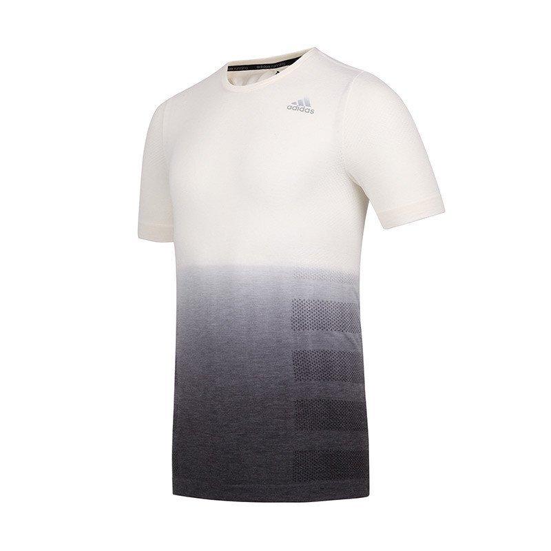 adidas阿迪达斯 2016新 男女跑步运动短袖t恤