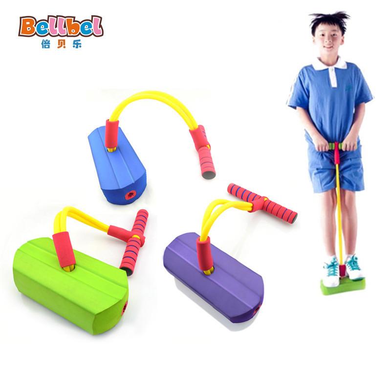 倍贝乐儿童青蛙跳有声弹跳鞋娃娃跳 幼儿园教学玩具运动跳跳鞋【贵族