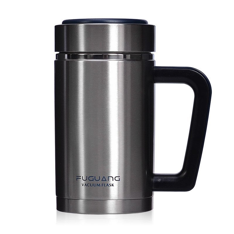 水杯保温杯男女士带手柄便携口杯商务办公泡茶杯真空不锈钢双层杯子
