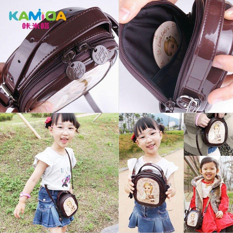 咔米嗒kamida儿童包包公主小包女童斜挎包pu时尚可爱小孩包包