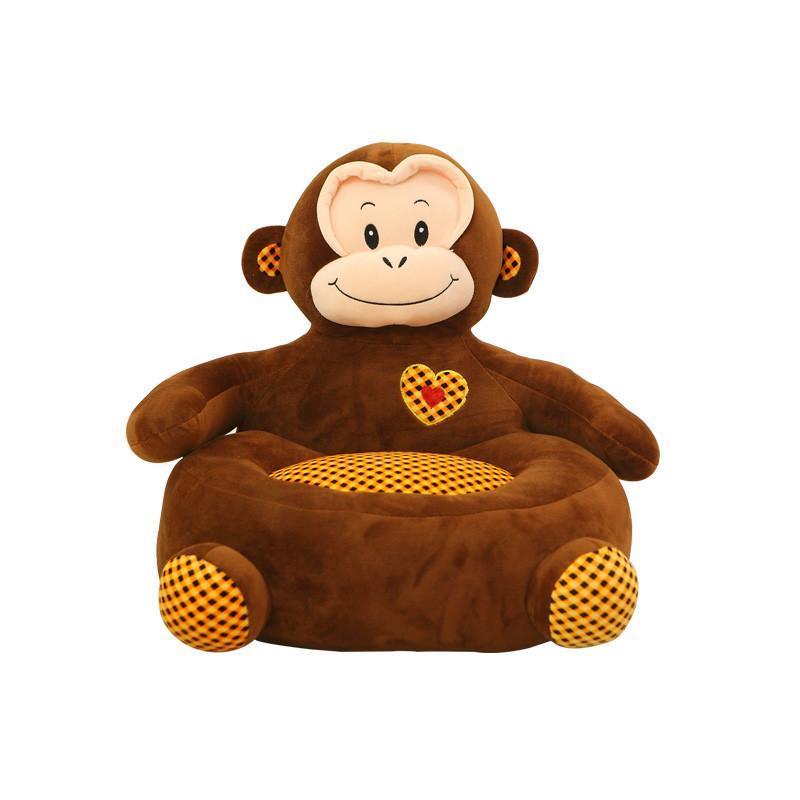 安吉宝贝可爱卡通懒人沙发小狗猴子青蛙幼儿居家毛绒玩具 创意儿童节