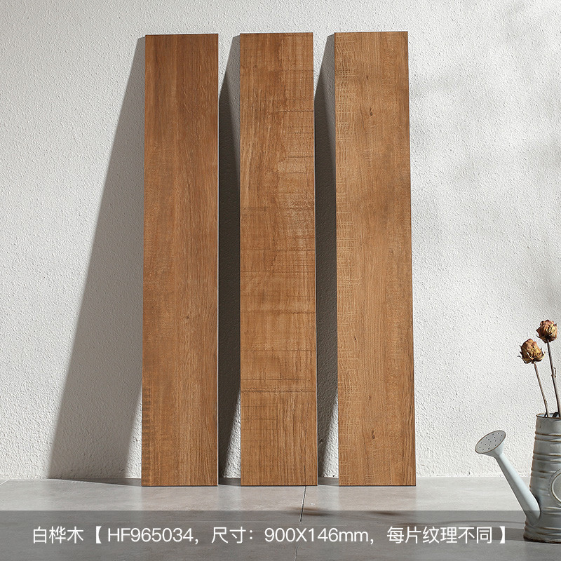 东鹏瓷砖 客厅地砖卧室仿古木纹砖地板砖 白桦木