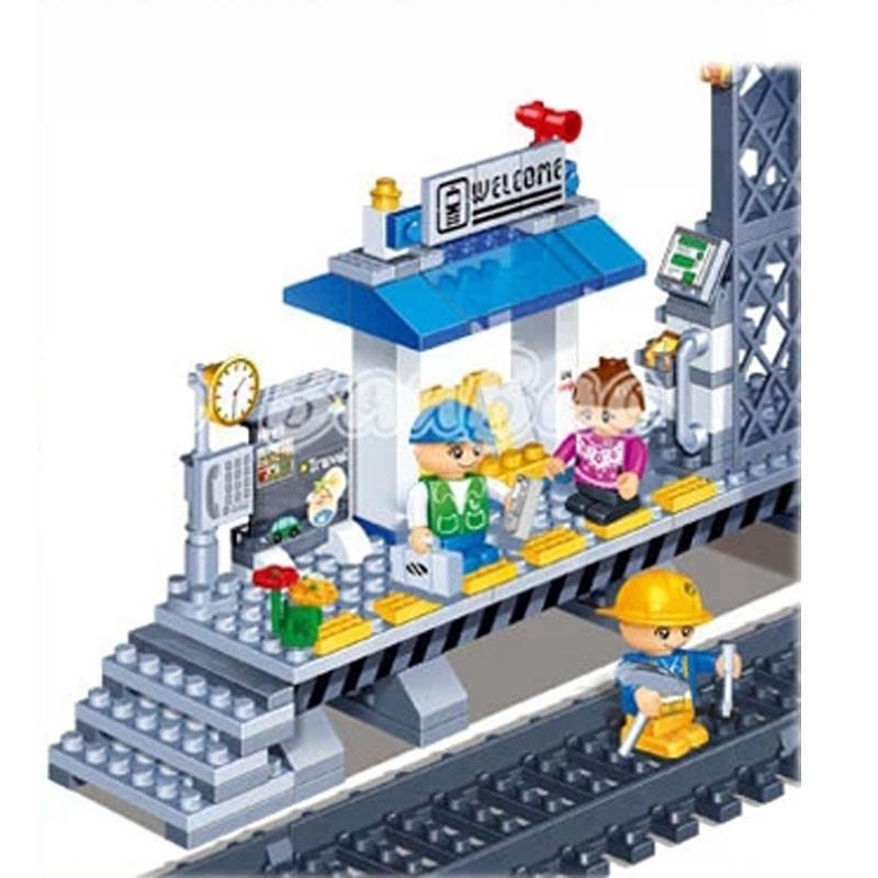 邦宝v儿童拼装狂欢小儿童积木儿童玩具娃娃站台火车水嫩颗粒效果图片