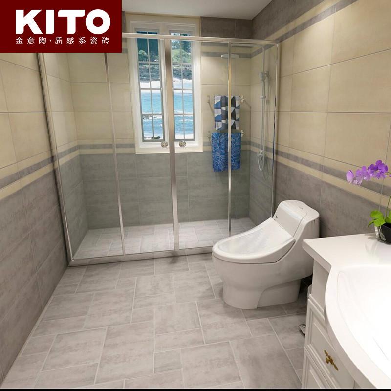 金意陶瓷砖 厨房卫生间阳台防滑仿古砖地砖墙砖地板砖