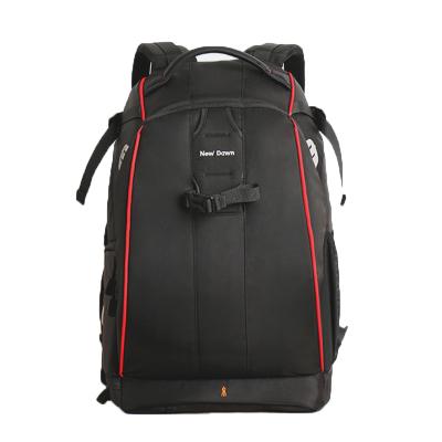 New Dawn 專業單反相機包 攝影包 雙肩 大容量防盜背包 六代小號-酷黑紅邊