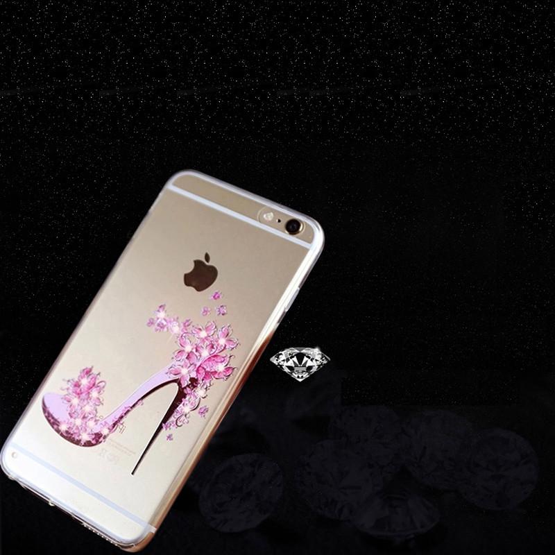魅爱琳 iphone7手机壳 透明卡通水钻软套 苹果7plus手机壳 iphone 7
