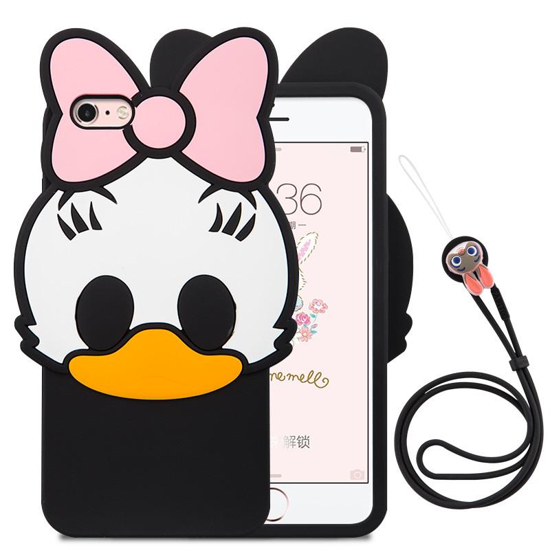 魅爱琳 iphone7手机套 卡通可爱鸭子 苹果6s plus手机