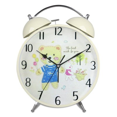 汉时(hense) 创意儿童卡通可爱小熊静音懒人小闹钟座钟 ha60 可爱小熊