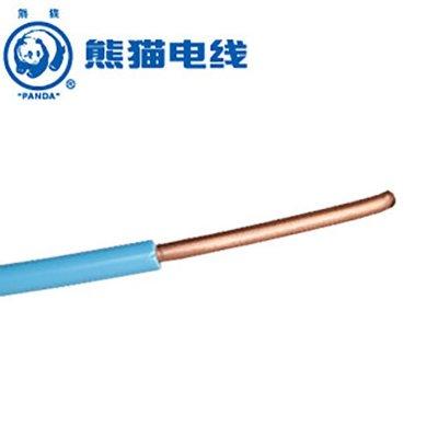 熊貓電線 BV6平方 (藍色每米) 銅芯線 零剪定制線 單芯銅線 中央空調線進戶線 家用電線 電纜
