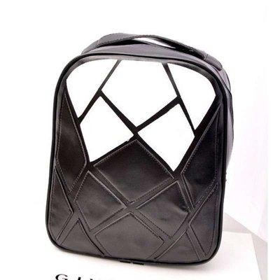 范特丝蒂fantasty新款水立方黑白拼接大容量女包撞色简约双肩包背包