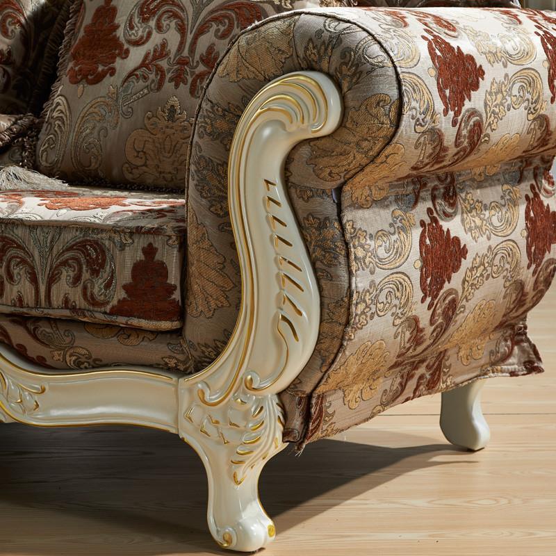 欧施洛 欧式沙发 实木沙发 布艺组合沙发 美式客厅沙发 欧式馆 法式