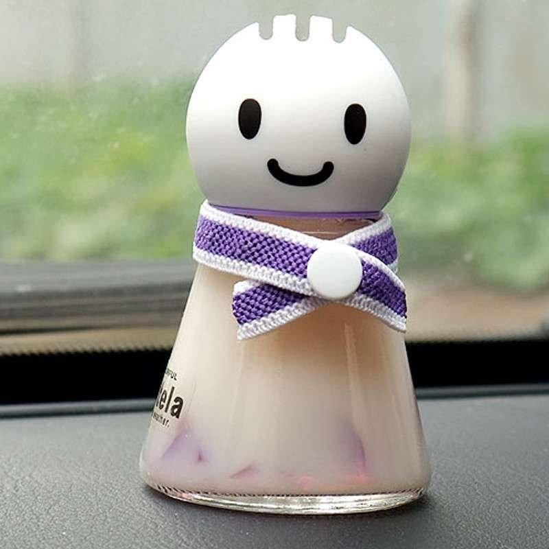 石家垫 汽车香水座可爱晴天娃娃香水座车载香水车用香水座雪人娃娃