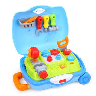 汇乐旅行箱工具箱男孩女孩玩具套装 儿童过家家玩具 小工匠旅行箱
