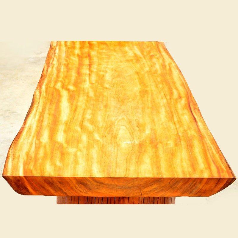 悦木之源 非洲菠萝格原木大板桌 书房桌 客厅桌 老板桌 厂家直销 欢