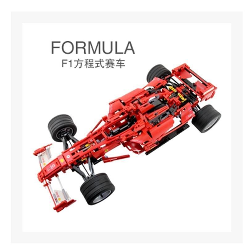 拼插积木拼装高难度车模 法拉利f1方程式赛车 3335媲美乐高高于邦宝小