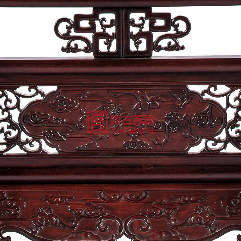 苏绣双面绣手工刺绣屏风家用隔断红木办公室装饰手工艺品摆件