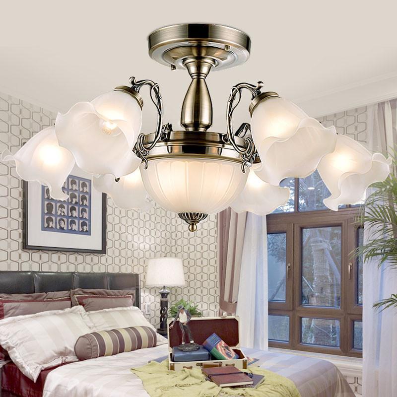 欧式吸顶灯 温馨卧室灯田园餐厅灯具