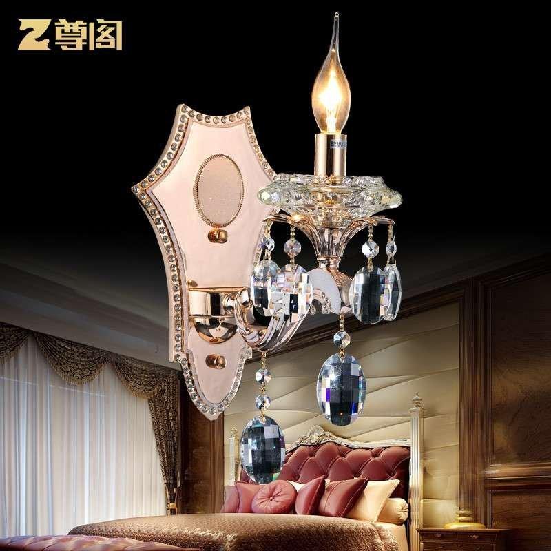 锌合金壁灯 欧式水晶壁灯