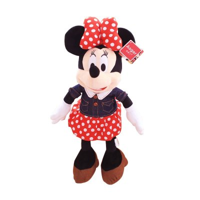 达娃毛绒玩具米奇米妮公仔生日礼物情人节礼品宝宝玩偶 牛仔背带米奇