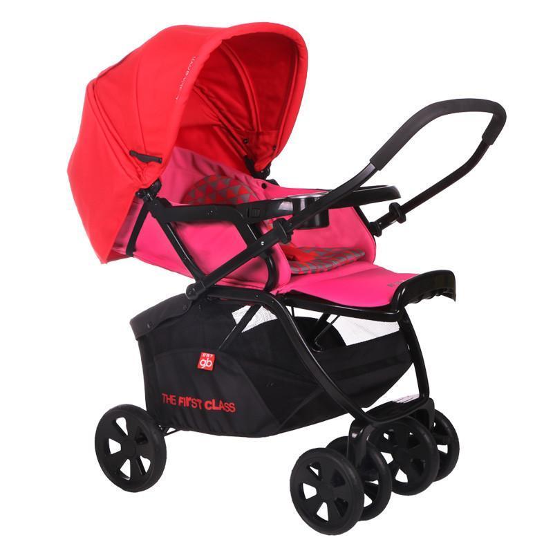 好孩子goodbaby时尚超宽座舱一秒折叠婴儿车全蓬强收纳双向推行婴儿