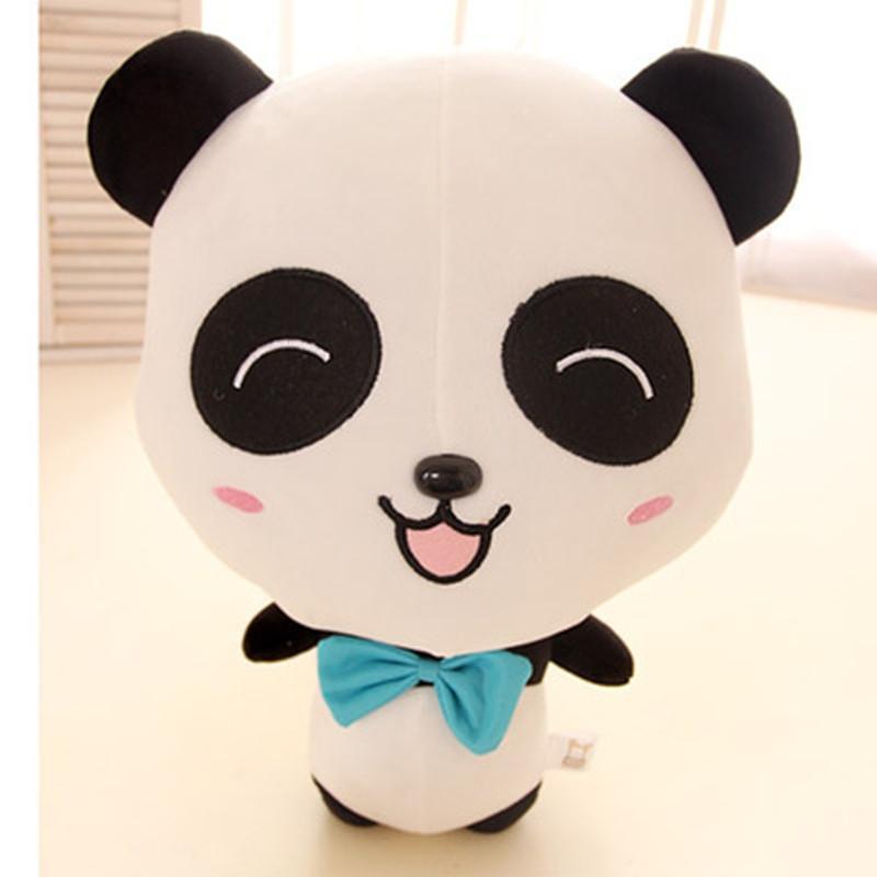 可爱蝴蝶结大眼睛情侣熊猫公仔 薰衣草香薰熊猫毛绒玩具 生日礼物