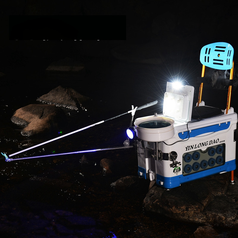 梦之钓 银龙岛新款多功能钓鱼箱用品加厚四脚升降渔具