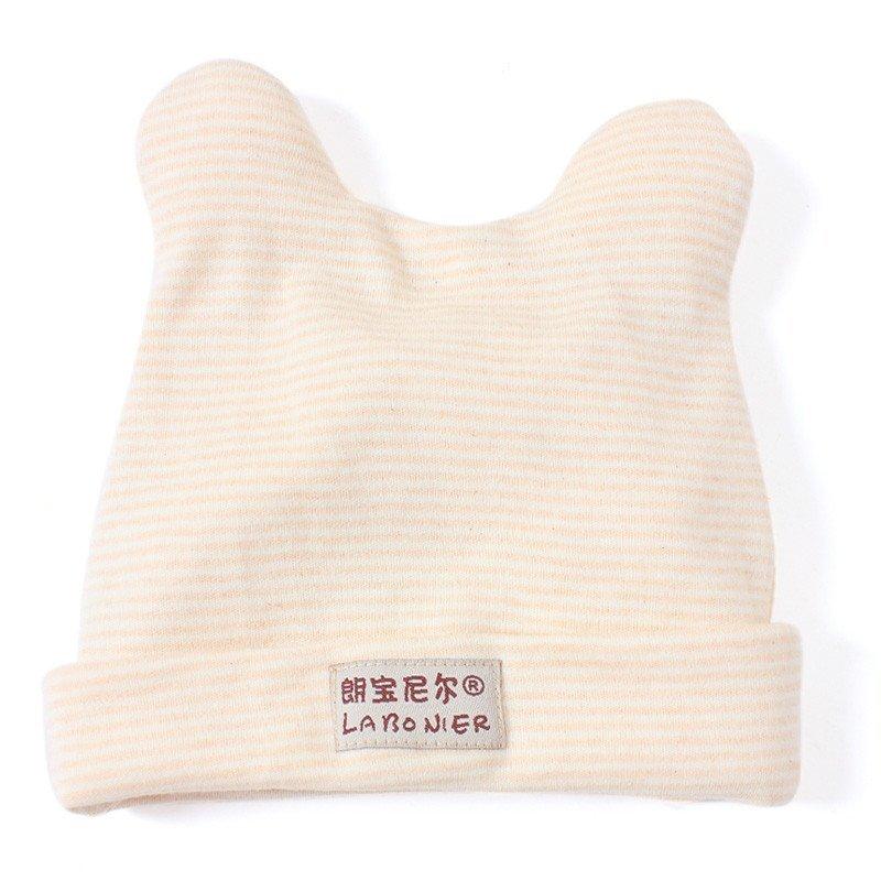 朗宝尼尔秋冬季彩棉婴儿帽 可爱兔耳宝宝帽