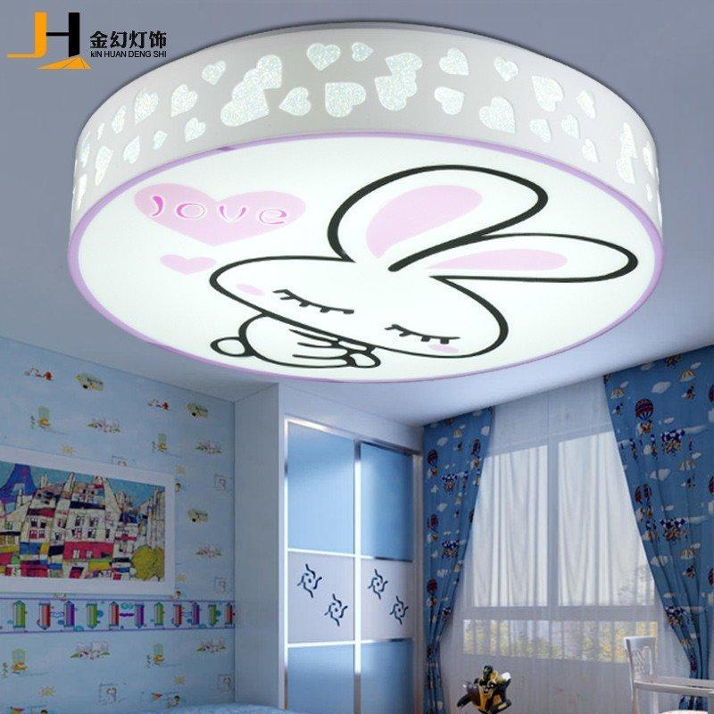 金幻儿童房小孩卧室灯创意可爱卡通灯饰led调光调色吸顶女孩房间灯具图片
