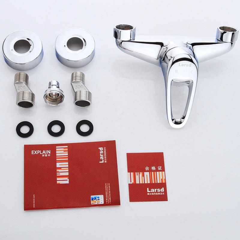 莱尔诗丹 larsd lx111入墙式全铜洗衣机冷热水龙头单把多功能混水阀图片
